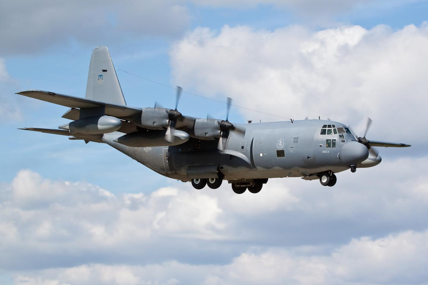 Large military aircraft, such as the C-130 transport pictured above, could be converted to launch and recover multiple UAVs (Photo: Shutterstock)