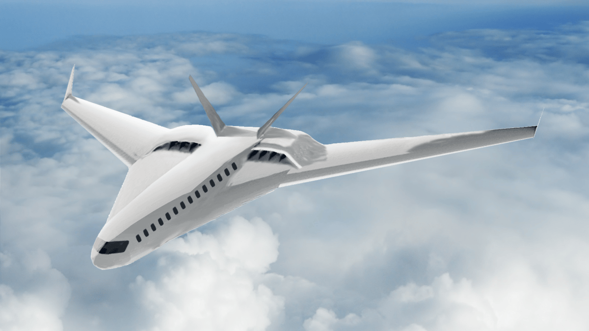 Artist's rendering of an advanced commercial transport aircraft concept utilizing CHEETA systems