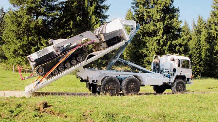 The D-3 can be transported on the back of a truck (Photo: DIGGER DTR)