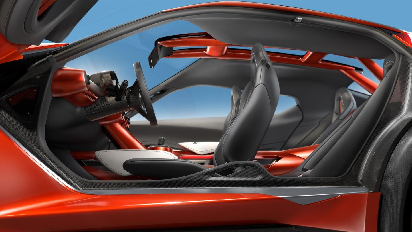 The Gripz' interior has been designed to remind drivers and passengers of Tour De France bikes