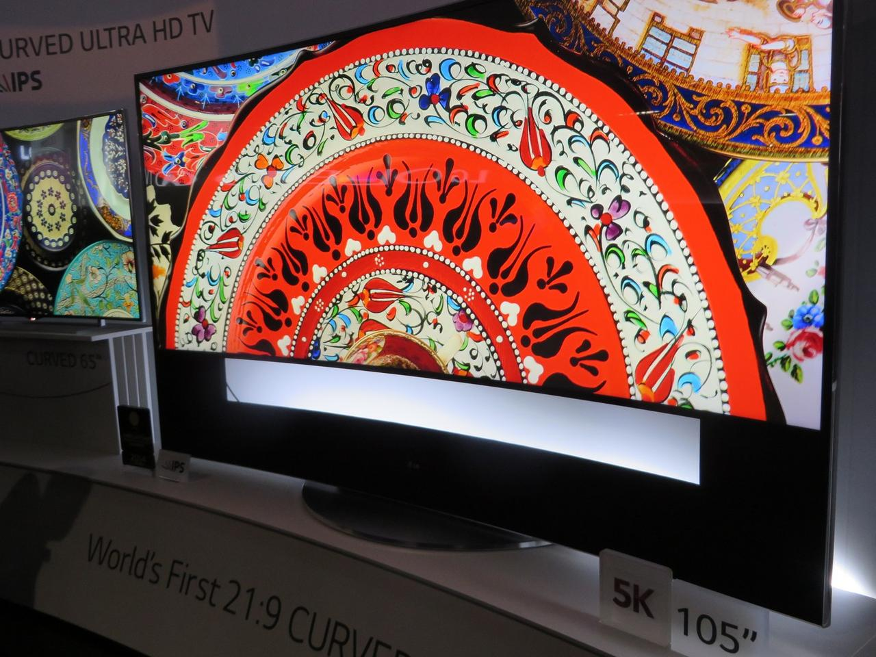 Upping the ante beyond 4K, LG's 105-inch 5K display at CES 2014
