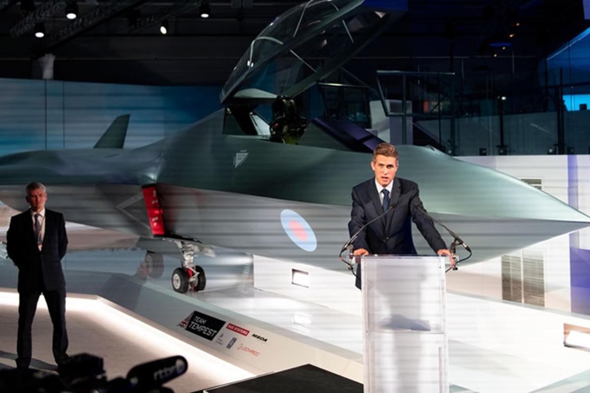 Defence Secretary Gavin Williamson unveils the Tempest concept