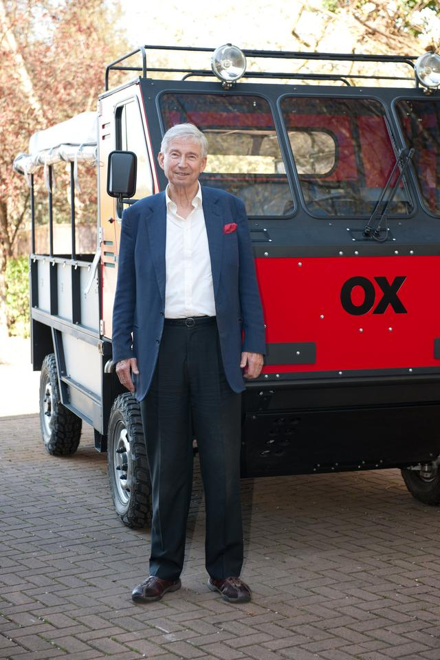 OX was designed by onetime toymaker, adventurer, and philanthropist Sir Torquil Norman