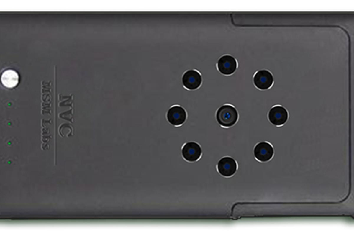 The NVC case has its own infrared camera and LEDs