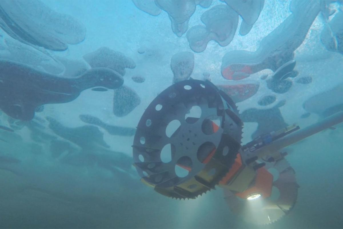 An underwater rover called BRUIE is being tested in Antarctica to look for life under the ice