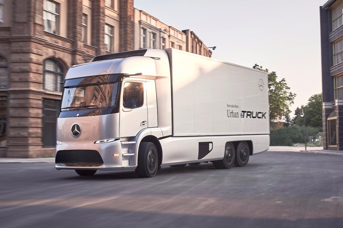 The Mercedes Urban eTruck promises quieter, cleaner freight hauling