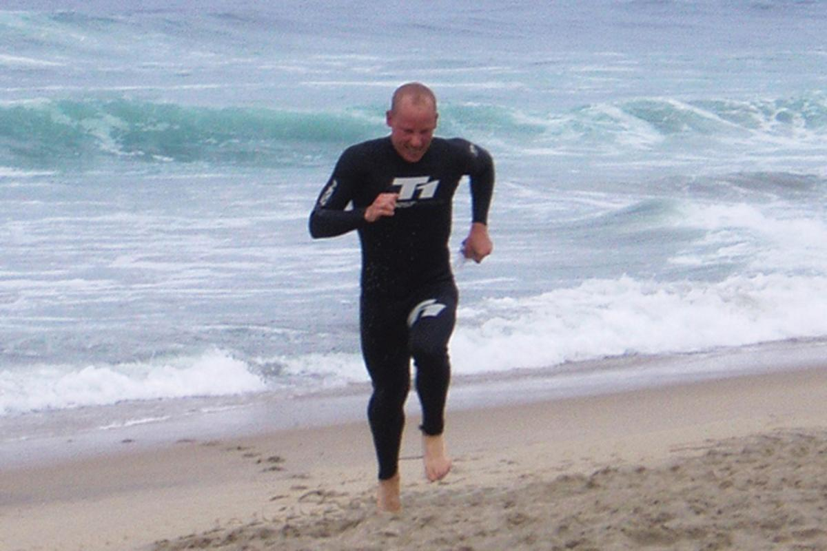 The De Soto T1 Wetsuit in action