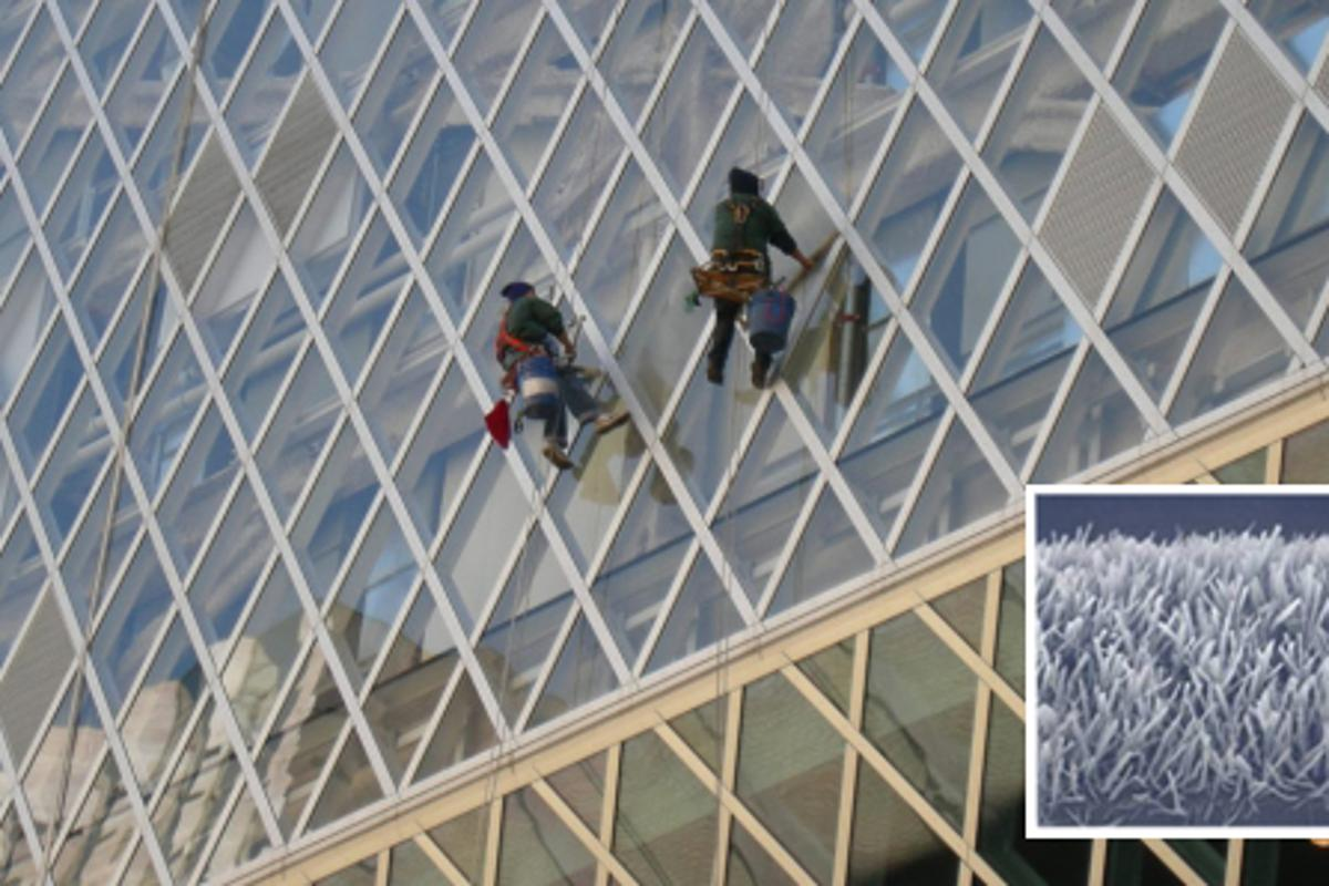 Window washers may need to look for alternative employment thanks to the new nano-material (Main photo: Joe Mabel)