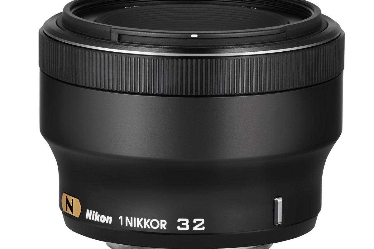 Used on a Nikon 1 camera, the NIKKOR 32mm f/1.2 gives a focal length equivalent of approximately 85mm in 35mm-format