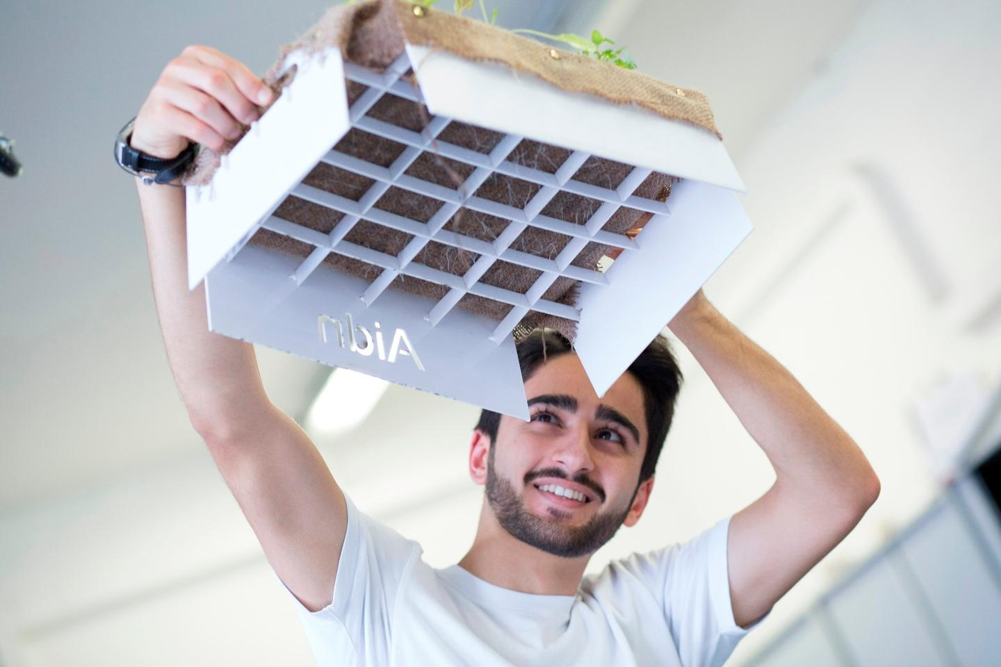 Nikian Aghababaie says his low-cost kit will allow families in harsh climates to cultivate vegetables using 90 percent less water
