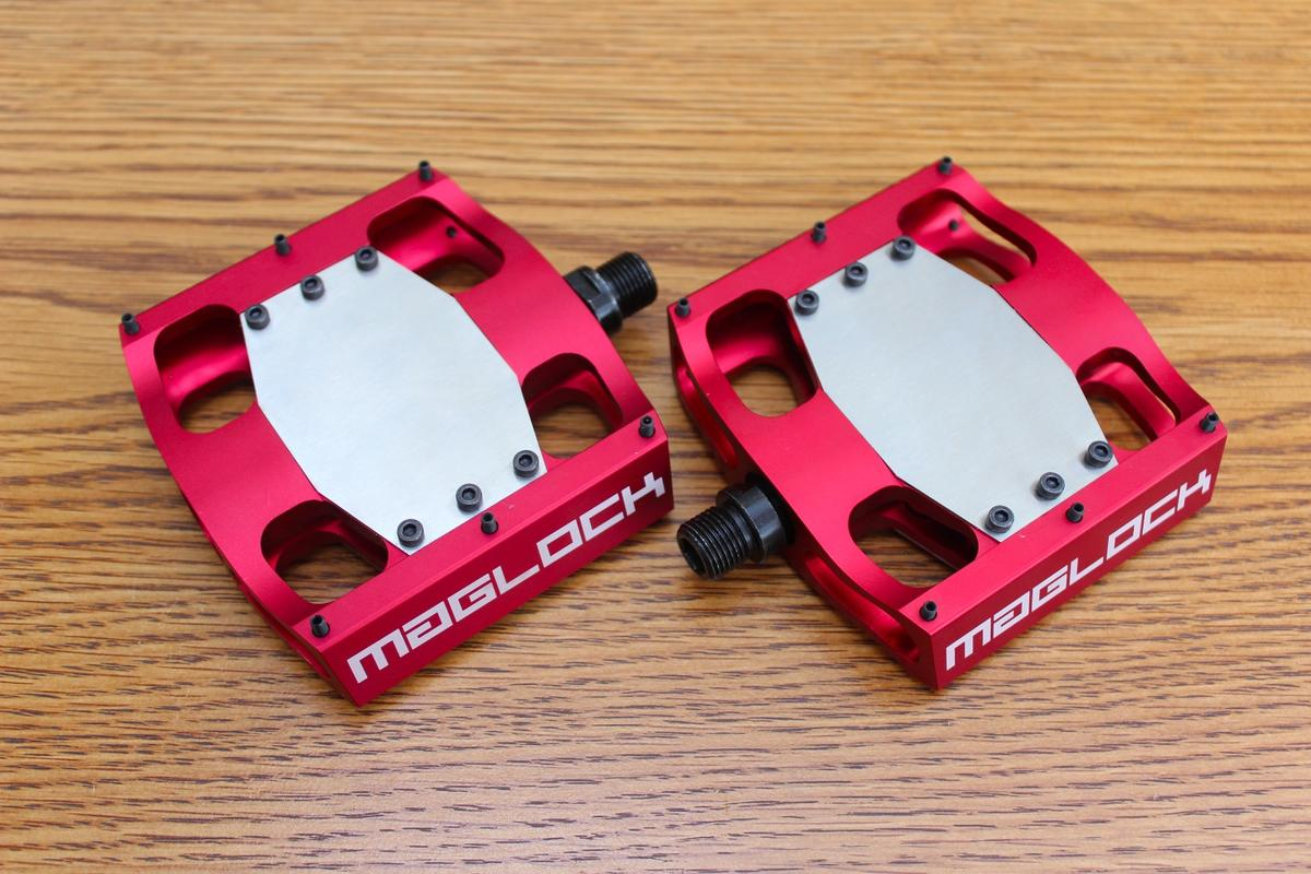 MagLOCK pedals are available in red, black or blue