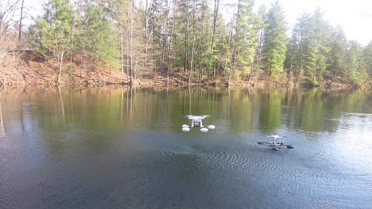 The WaterStrider lets DJI Phantom drones take off from and land on the water