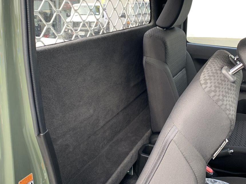 Clean and tidy behind the seats
