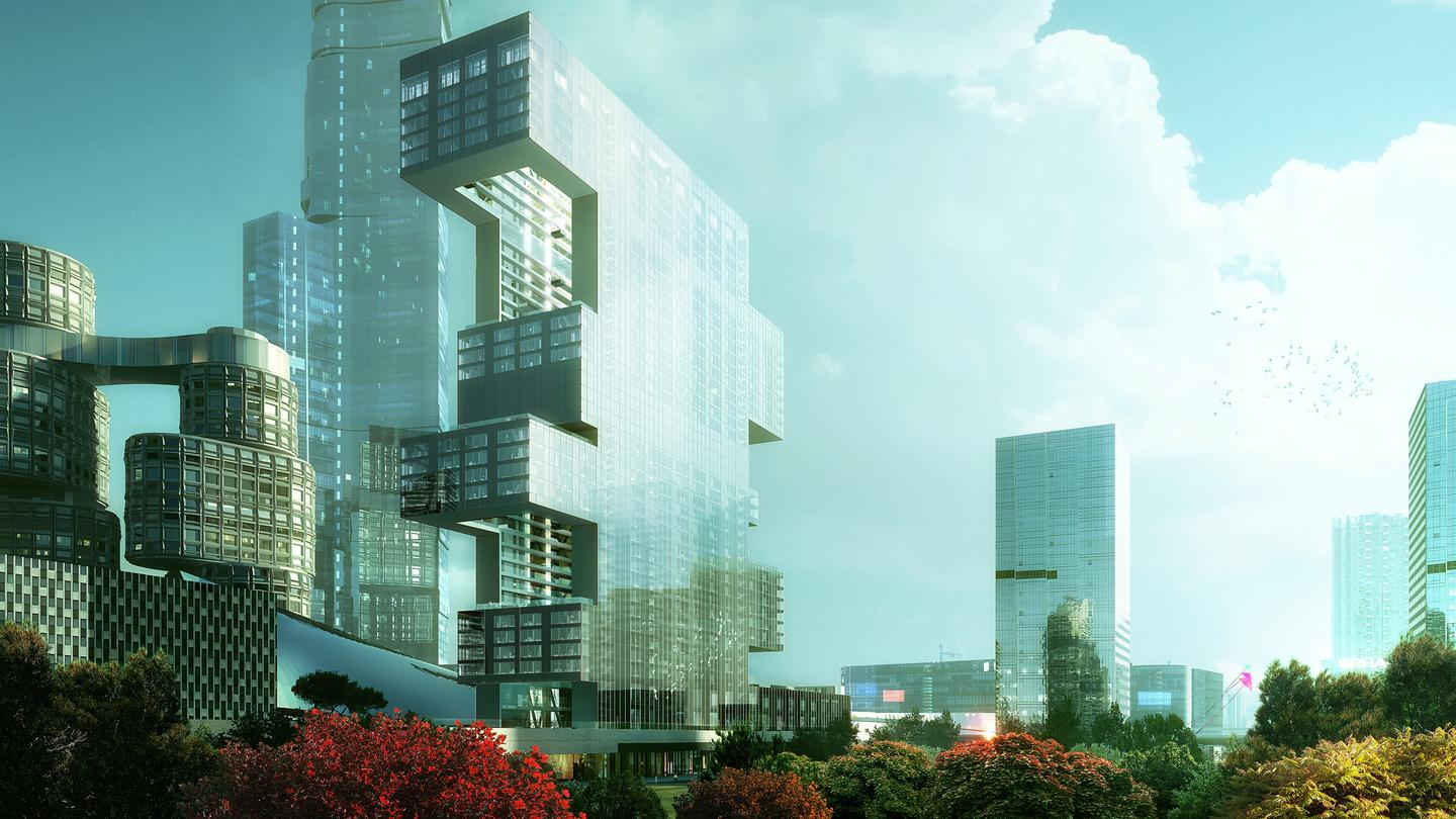 "REX's ""Project R6,"" also known as Yongsan Tower, is a striking residential tower design commissioned by Dreamhub for its re-imagining of Seoul's Yongsan district"