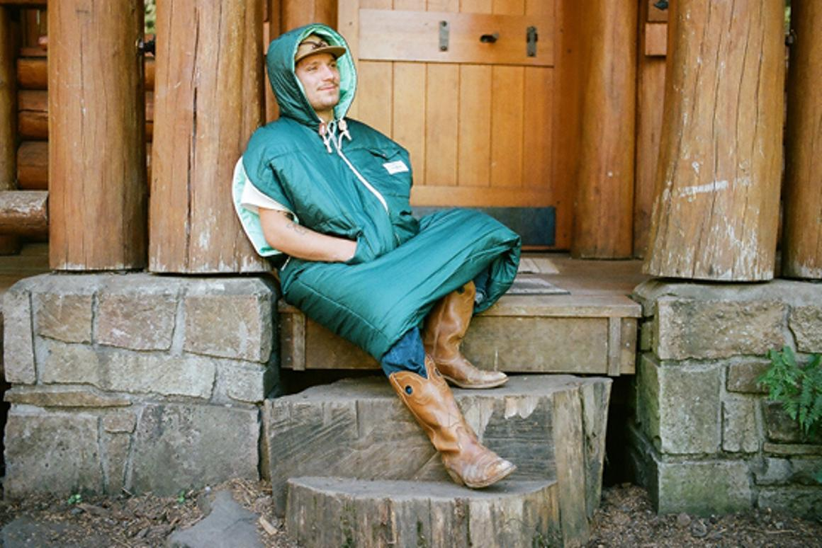 The Napsack looks like a giant hoodie, but is also a sleeping bag