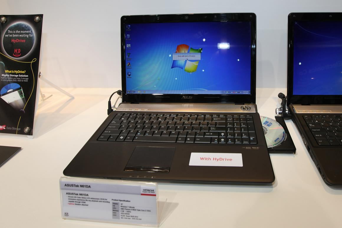 Hydrive on display at Computex 2010 in an ASUS N61DA notebook