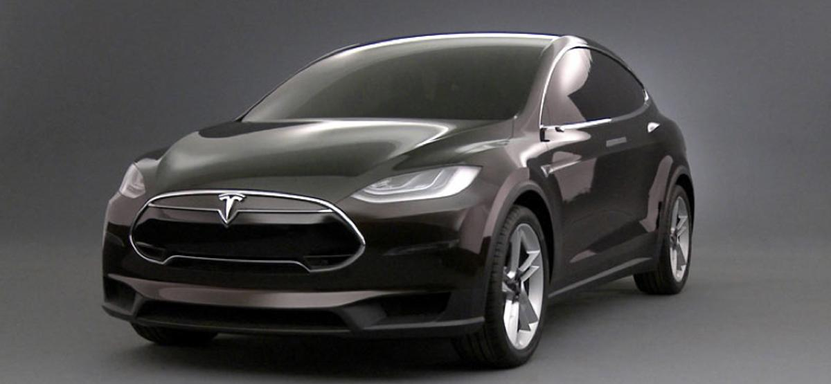 Tesla's Model X crossover electric vehicle is based on the same platform as the Model S