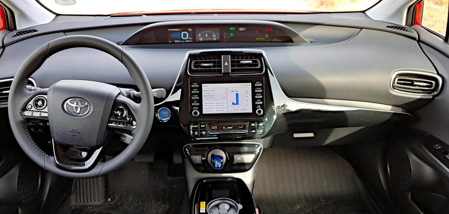 Although the exterior of the Prius is now more contemporary, the interior remains quirky with this unusual dashboard layout