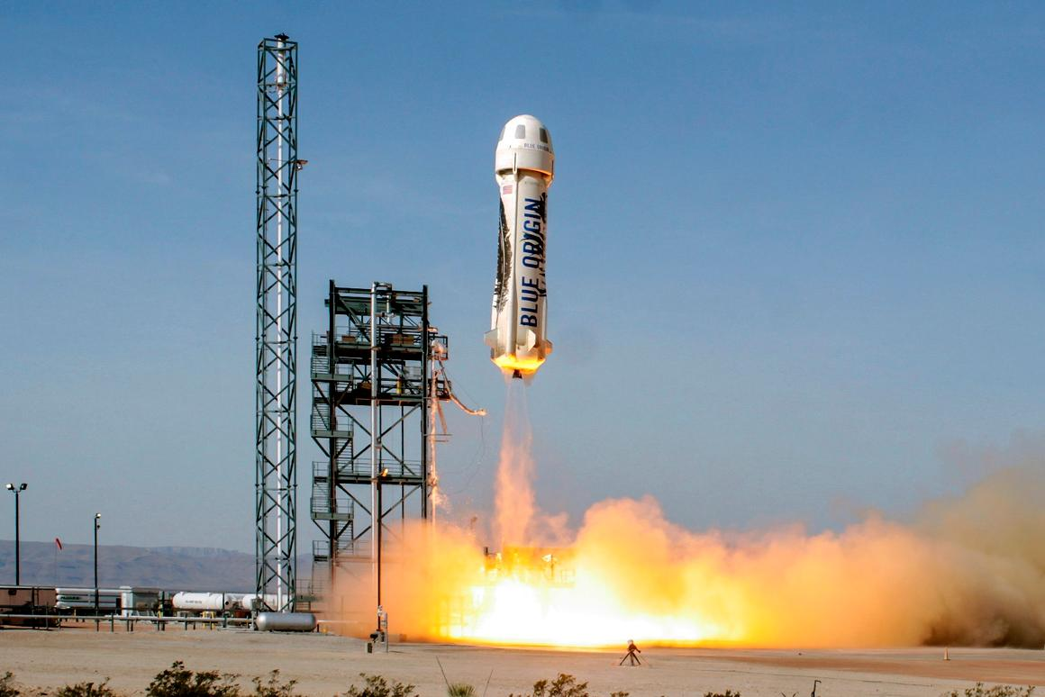 Blue Origin's New Shepard rocket was launched for the fourth time on Sunday
