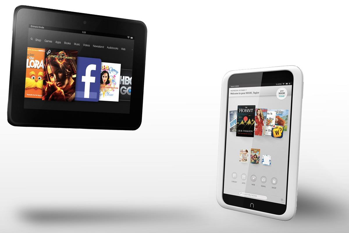 "How does Amazon's Kindle Fire HD (7"") compare to the Nook HD?"