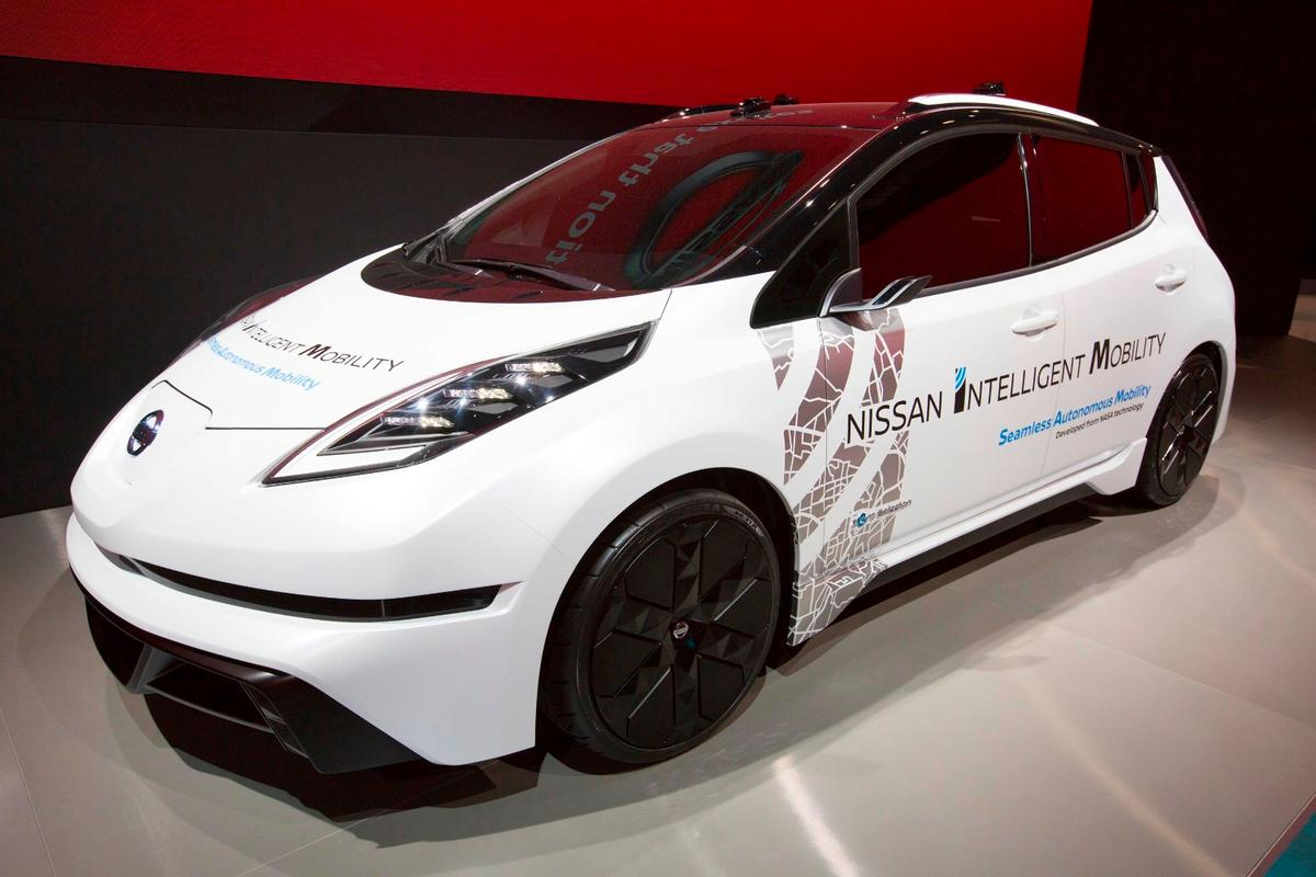 "Nissan calls its blueprint forbuilding autonomous vehicles and smart technologiesits ""Nissan Intelligent Mobility"" initiative"