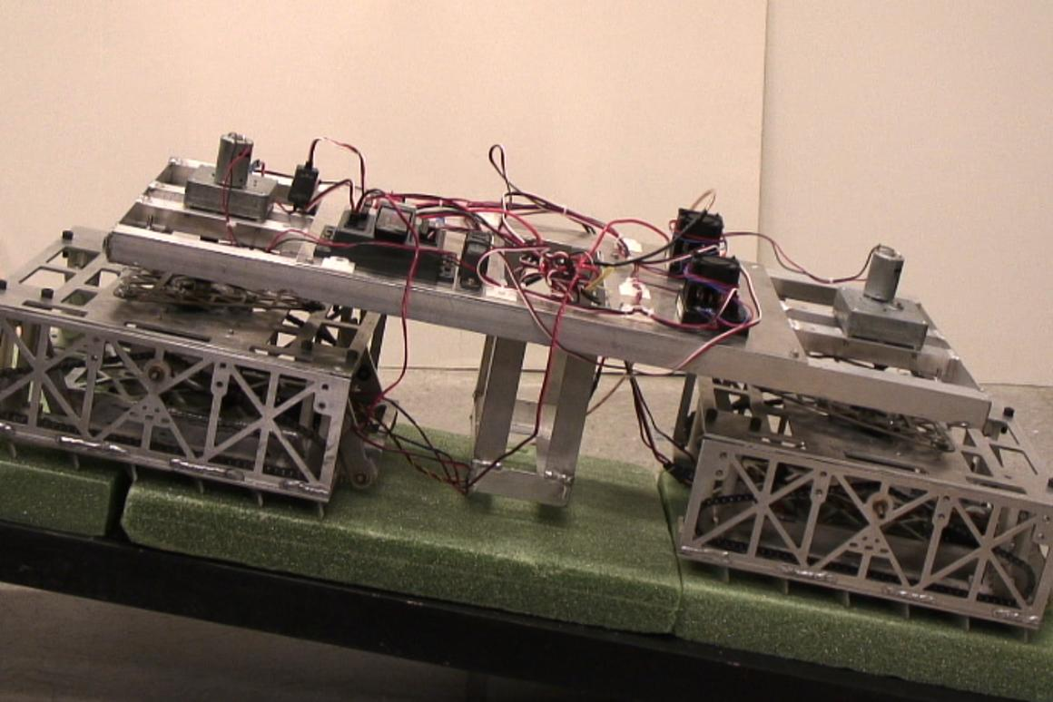 Scalybot 2 replicates the rectilinear locomotion employed by snakes that is efficient and allows them to crawl into tight spaces