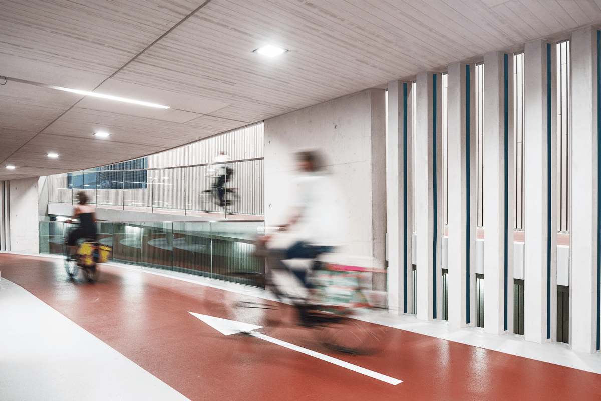 The largest bike parking garage in the world at Utrecht Central Station has room for more than 12,000 bicycles