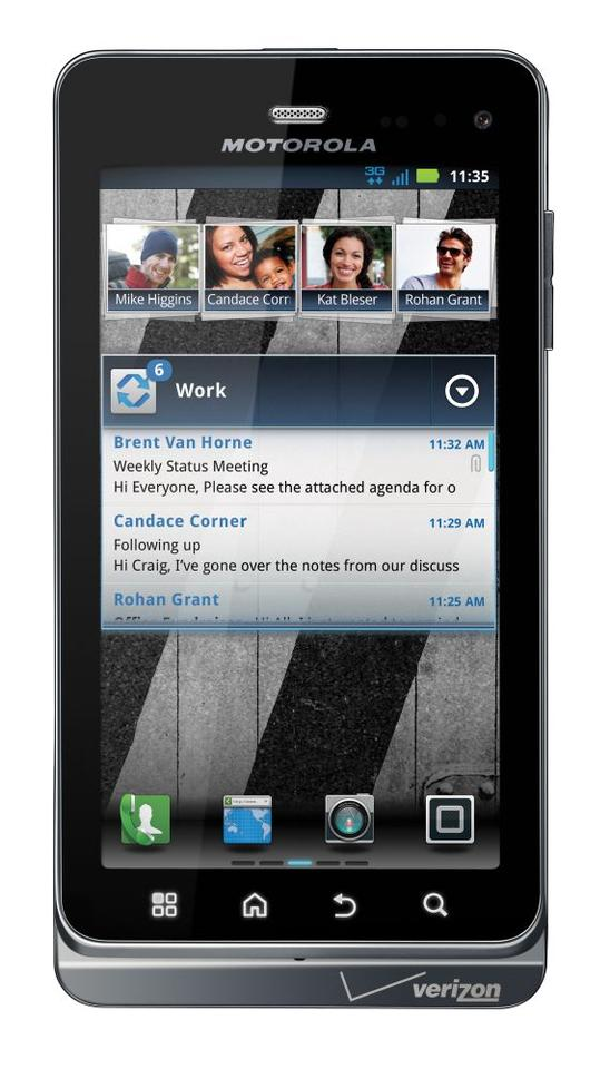 Motorola DROID 3 Android 2.3 smartphone comes with a full QWERTY keyboard, 4-inch qHD touchscreen, 8-megapixel camera and Full HD 1080p video recording.