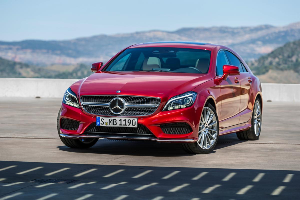 As well as styling updates, the new CLS features a new 9-speed gearbox and adaptive LED headlights