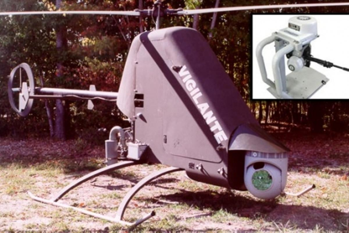 ARSS is based on the Vigilante 502 unmanned helicopter