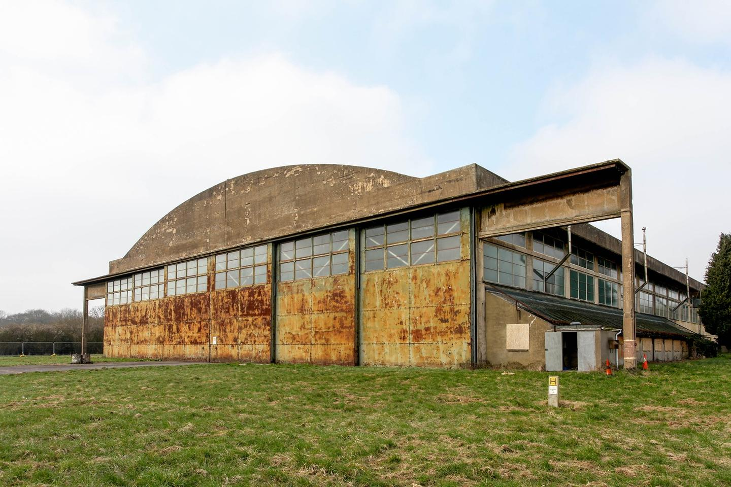 Dyson has restored old WWII hangars as part of its new EV development facility
