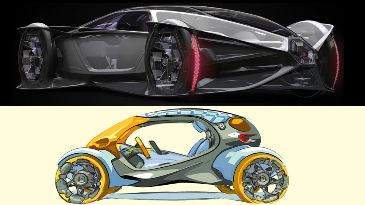 Cadillac Aera and smart 454 vehicles tied for the 2010 LA Auto Show Design Challenge
