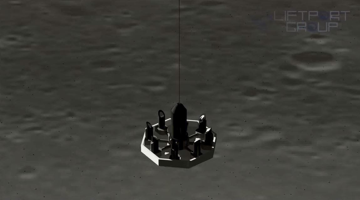 The lunar elevator docking port concept