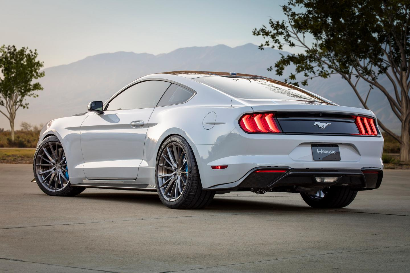 The Mustang Lithium build includes a composite rear diffuser