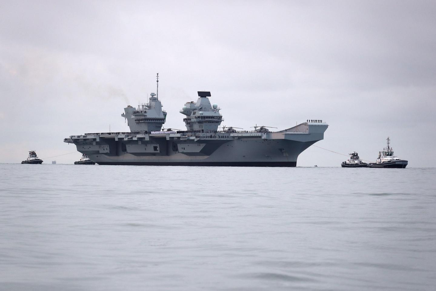 HMS Queen Elizabeth has been undergoing sea trials