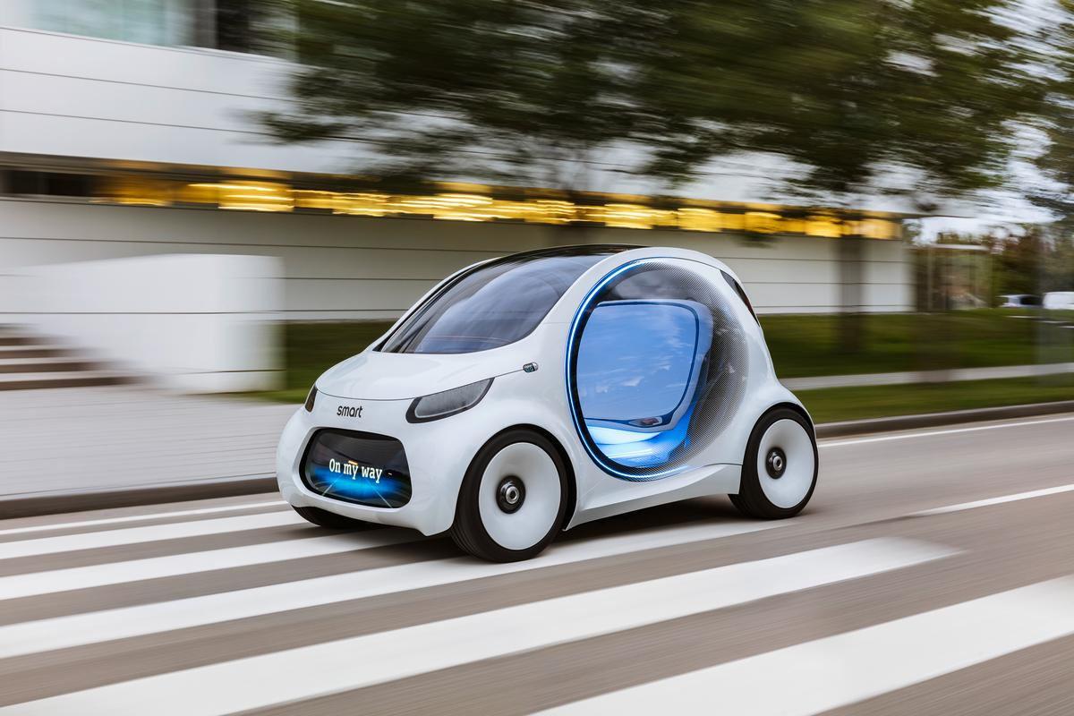 The Smart Vision EQ ForTwo follows Daimler's corporate CASE strategy, which will help guide its lineup into the future