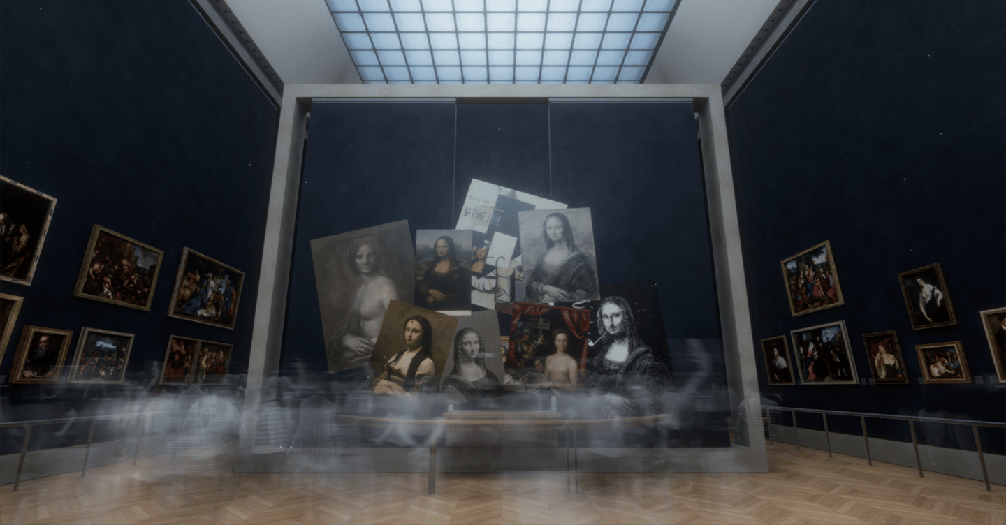 The Mona Lisa: Beyond the Glass VR experience is being held as part of a major da Vinci exhibition at the Musée du Louvre in Paris