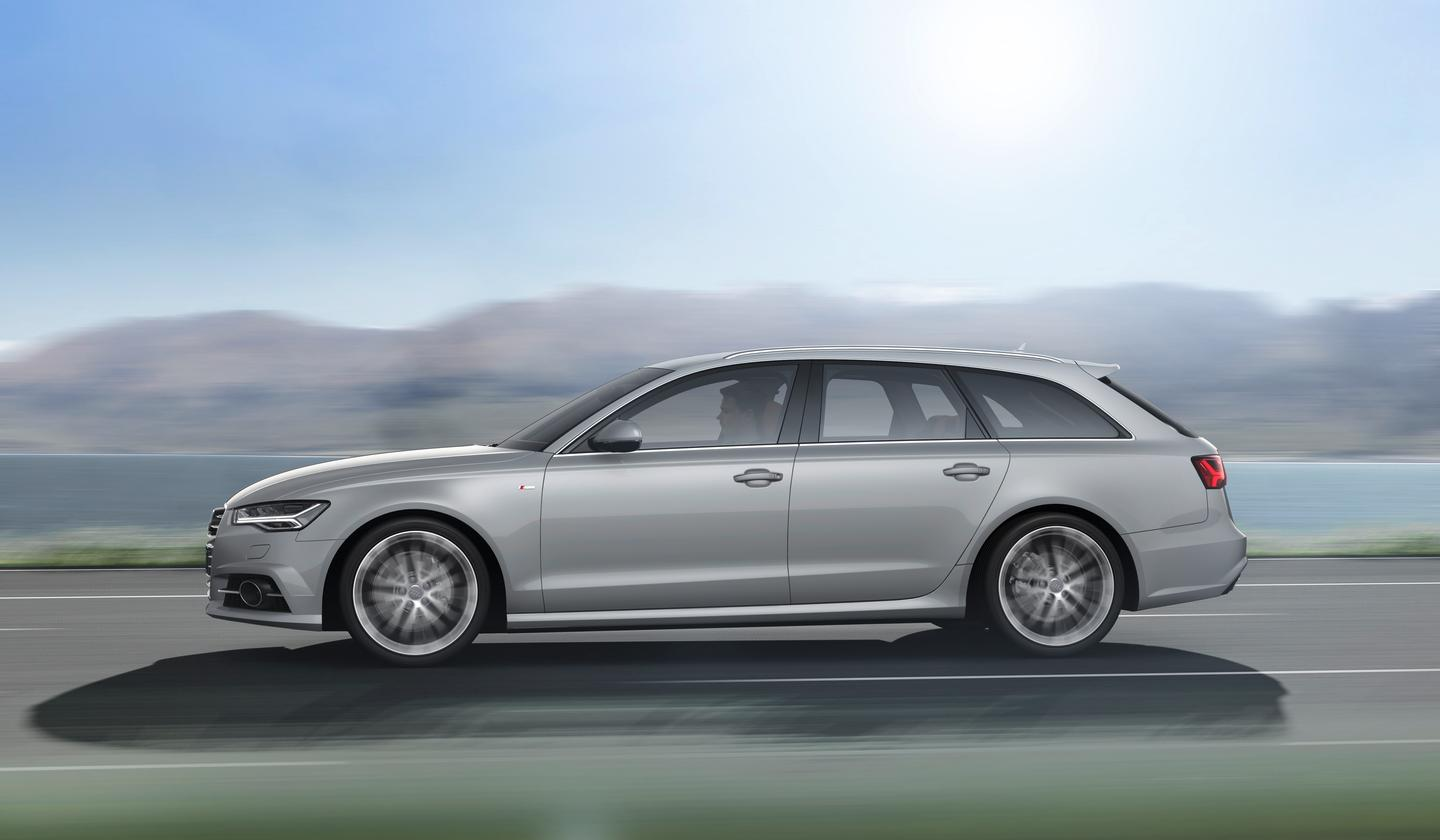 The new A6 Avant has a luggage capacity of 565 liters with the seats up