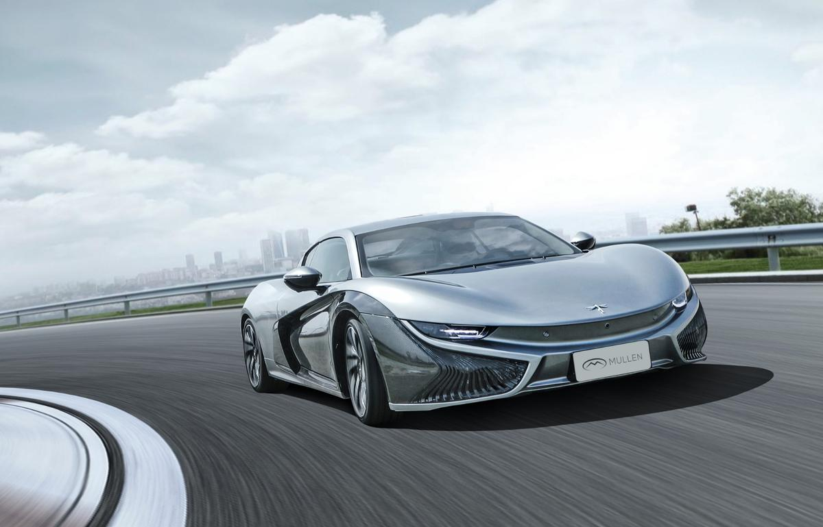 A Chinese-American partnership brings us this mid-level electric sports car with exotic looks.
