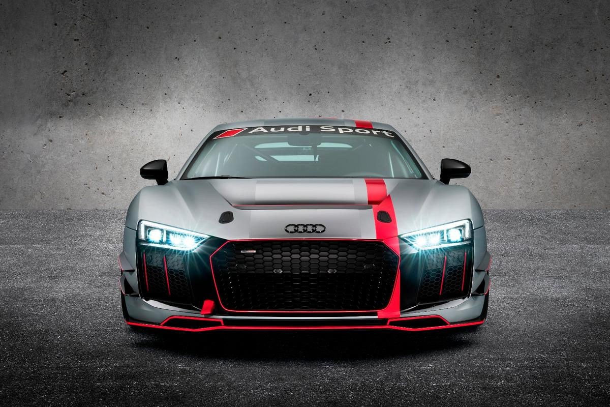 The new AudiR8V10 LMSGT4 doesn't have a catchy name, but it does have a naturally aspirated engine and track-ready setup