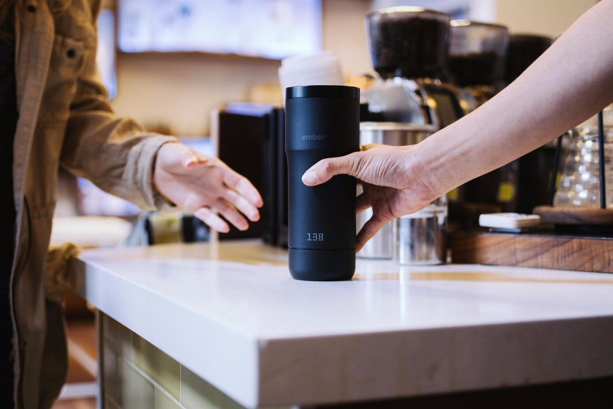 Users can control the temperature of the Ember coffee mug via an app