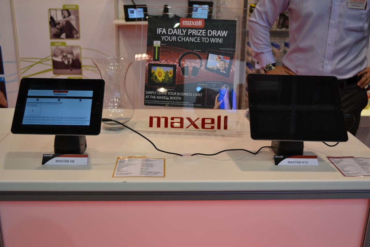 Gizmag managed to get a closer look at two new budget Android tablets from Maxell, along with a few other products, at the company's IFA 2012 booth