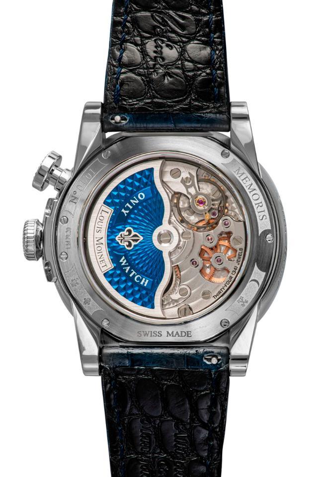 The Louis Moinet Memoris Only watch reverse