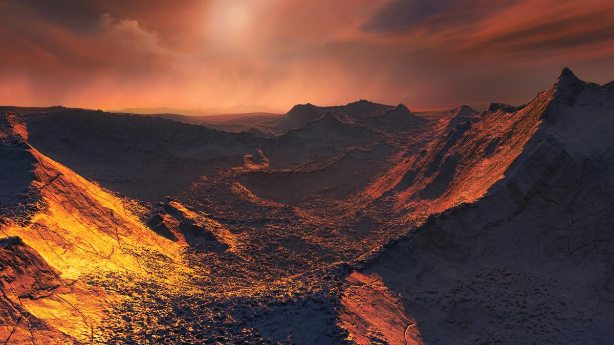 Artist's impression of the surface of Barnard's Star b