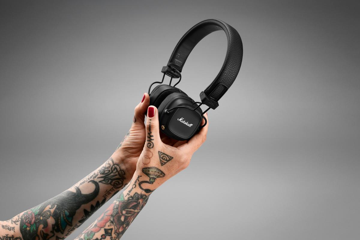 Marshall is promising an improved fit and more than 80 hours of play time from the new Major IV wireless headphones