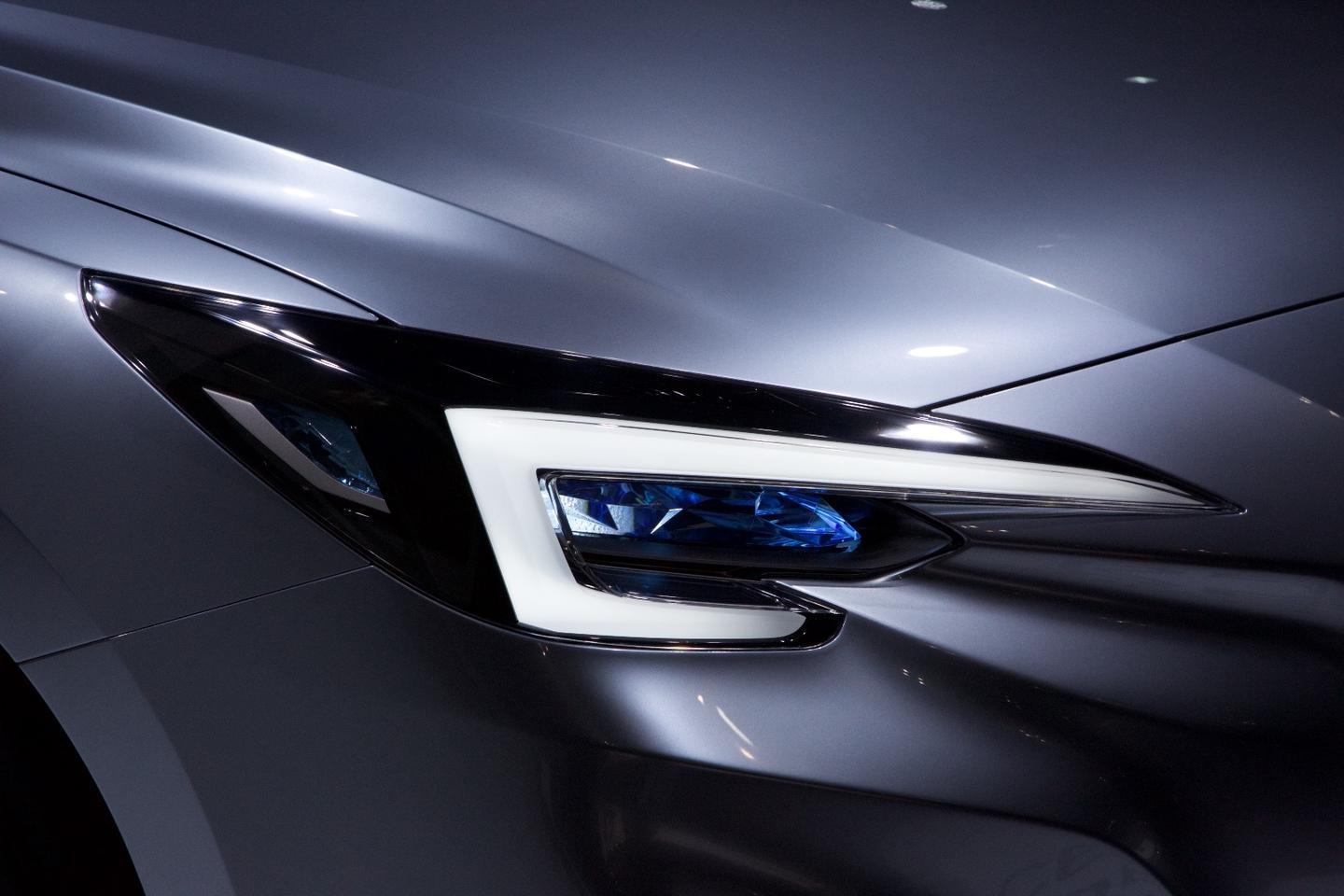 The Impreza 5-Door Concept has hawk-eye headlights