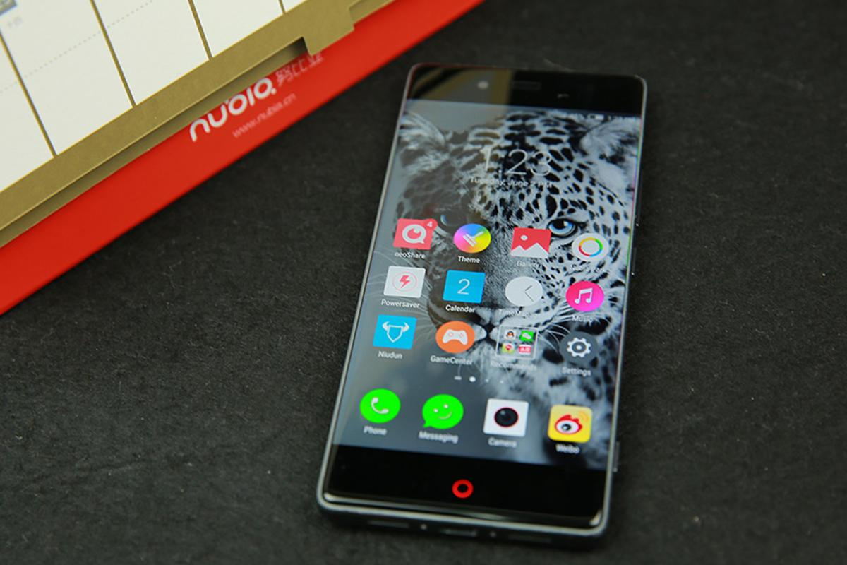The ZTE Nubia Z9 has virtually no bezels on the sides of its screen