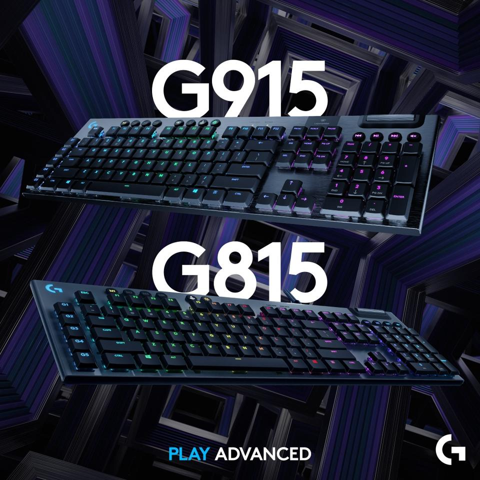 The G915 makes use of Logitech's LightSpeed wireless technology, while the G815 is a wired version