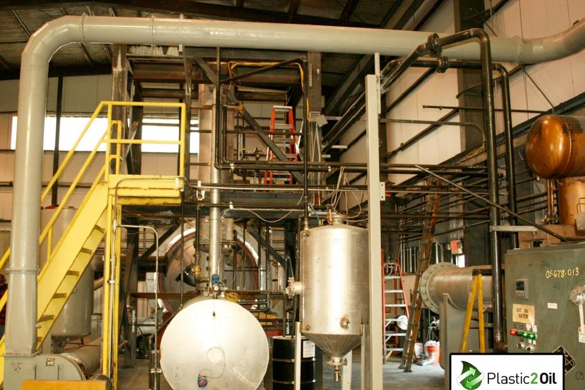 The Plastic2Oil plant in Niagara Falls, New York, converts non-recyclable plastic into fuel (Photo: JBI)