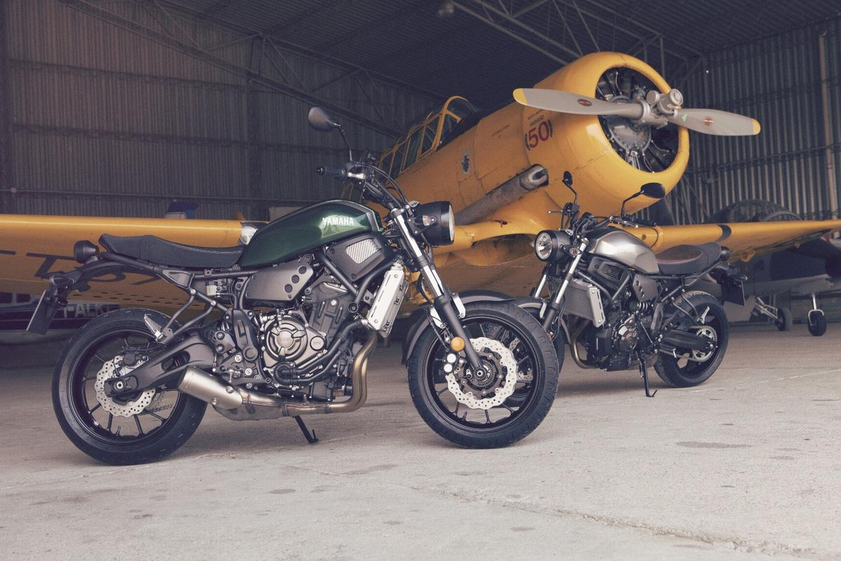 The Yamaha XSR700 is the first model inspired by the Yard Built custom series to go into mass production